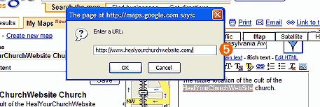 step 5 of embedding a google map