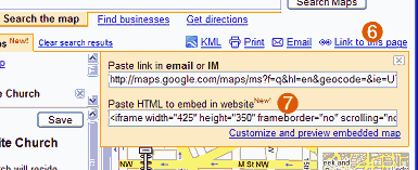steps 6 and 7 of embedding a google map