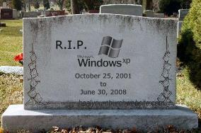 RIP Windows XP - October 2001 to June 2008