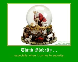 12 Days of Jesus Junk - Day 2 - Think Globally