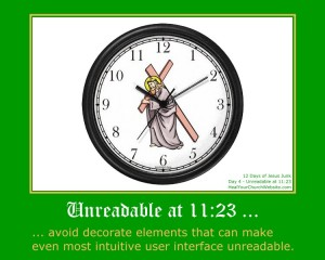 12 Days of Jesus Junk - Day 4 - Unreadable at 11:23