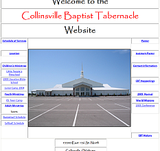 Archive shot of the Collinsville Baptist Tabernacle website