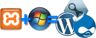 XAMPP + Win7 = great platform to test WordPress, MovableType and   Drupal